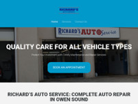 Richard's Auto Service website screenshot