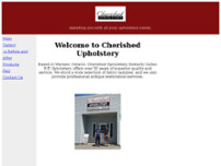 Cherished Upholstery website screenshot