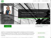 Sarah Thor - TD Wealth Private Investment Advice website screenshot
