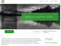 Tom Krystynak - TD Financial Planner website screenshot