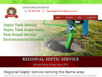 Regional Septic Service website screenshot