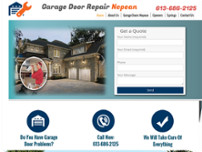 Garage Door Repair Nepean website screenshot
