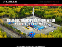 Luba's Hotshot Services Ltd website screenshot