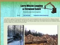 Larry Miscio Logging & Firewood Sales website screenshot