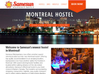 Samesun Backpacker Hostels website screenshot