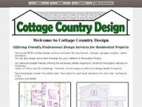 Cottage Country Design website screenshot