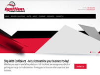 Ignition Freight Solutions website screenshot
