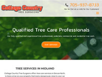 Cottage Country Tree Surgeons website screenshot