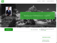 Van Vu Le - TD Financial Planner website screenshot