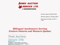 Stewart James Auctions website screenshot