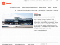 Trane Commercial Sales Office website screenshot