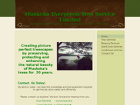 Muskoka Evergreen Tree Service Limited website screenshot