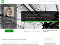 Melinda Burgess - TD Wealth Private Investment Advice website screenshot