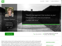 Debbie Hudson - TD Wealth Private Investment Advice website screenshot