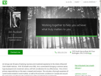 Jim Buckrell - TD Wealth Private Investment Advice website screenshot