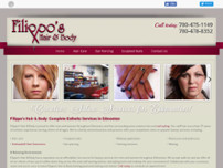 Filippos Hairstylists website screenshot
