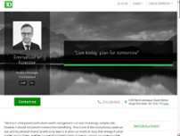 Emmanuel le Forestier - TD Wealth Private Investment Advice website screenshot