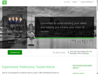Brian Sonoda - TD Wealth Private Investment Advice website screenshot