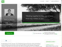 Darryn Stroud - TD Wealth Private Investment Advice website screenshot