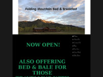 Folding Mountain Bed and Breakfast website screenshot