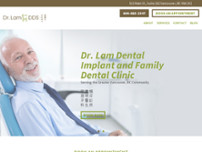 Dr. Lam Dentist website screenshot