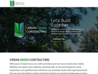 Urban Green Contracting website screenshot