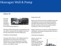 Okanagan Well & Pump website screenshot