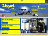 Lipari Group Machinery Mover website screenshot
