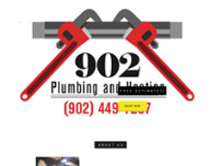 902 Plumbing & Heating website screenshot