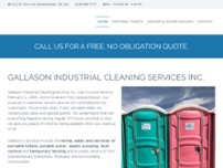 Gallason Industrial Cleaning Services Inc website screenshot