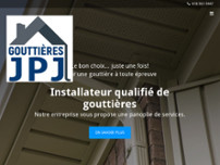 Les gouttières JPJ website screenshot