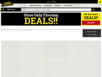 Lumber Liquidators Flooring website screenshot
