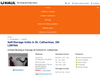 U-Haul Moving & Storage of Central St. Catharines website screenshot
