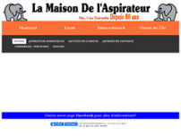 La Maison de l'Aspirateur website screenshot