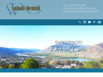Sahali Dental Centre website screenshot