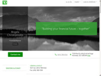 Angela Christopoulos - TD Financial Planner website screenshot