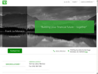 Frank La Monaca - TD Financial Planner website screenshot