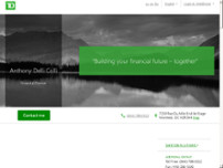 Anthony Delli Colli - TD Financial Planner website screenshot