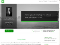 Andrew Clayton - TD Wealth Private Investment Advice website screenshot