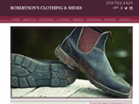 Robertson's Clothing & Shoes website screenshot