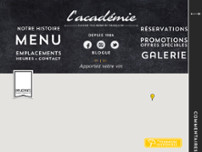Restaurant L'Académie Gatineau website screenshot