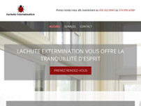 Extermination Lachute website screenshot