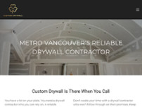 Custom Drywall website screenshot