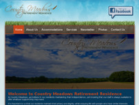 Country Meadows Retirement Home website screenshot