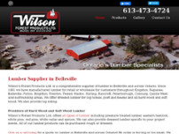 Wilson's Forest Products Ltd website screenshot