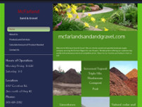 McFarland Sand & Gravel Ltd website screenshot