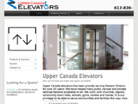 Upper Canada Elevators website screenshot