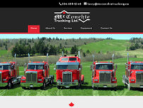 McConchie Trucking website screenshot