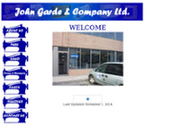 John Garde & Company Ltd website screenshot