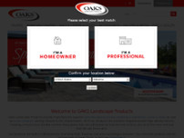 Oaks Landscape Products website screenshot